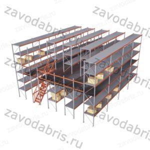 Фото 19 - Мезонинные стеллажи для склада в Екатеринбурге.