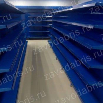 Фото 24 - Металлические пристенные стеллажи.