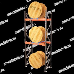 Фото 7 - Стеллаж для кабельных барабанов<br>высота 3000м на 3 барабана.