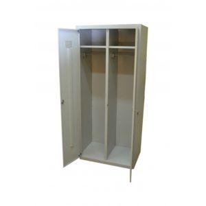 Фото 13 - Шкаф гардеробный<br>металлический двухсекционный<br>1850*800*500<br>Высота 1850мм.